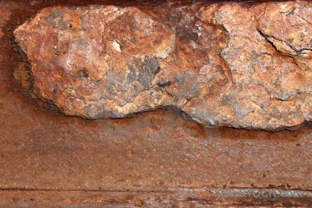 Orange rust texture brown.
