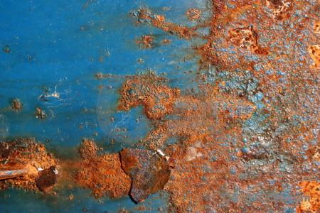 Orange texture brown rust blue.