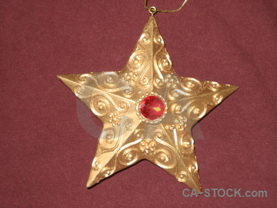 Ornament star object.