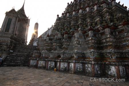Ornate buddhism temple thailand bangkok.