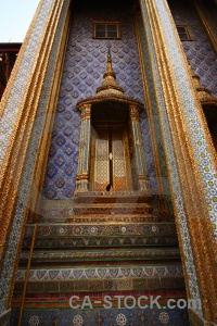 Ornate grand palace buddhist royal gold.