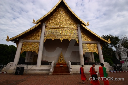 Ornate sky step buddhism gold.