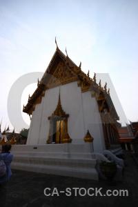 Ornate thailand buddhism bangkok temple.