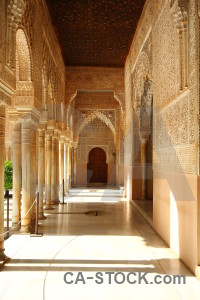 Palace arch building orange pillar.