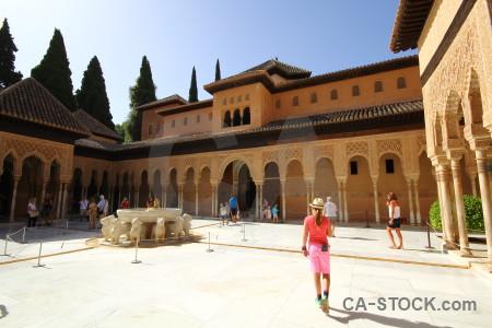 Palace brown alhambra fortress la de granada.