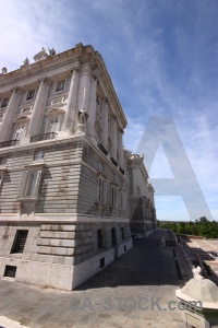 Palace europe madrid sky cloud.