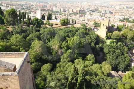 Palace fortress granada green la alhambra de.
