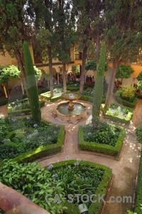 Palace fortress park la alhambra de granada garden.