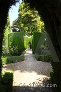 Palace garden granada green park.