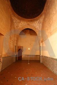 Palace interior la alhambra de granada fortress brown.