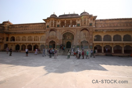 Palace person asia amer amber fort.