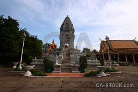 Palace stupa phnom penh asia step.