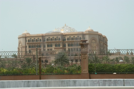 Palace western asia abu dhabi middle east uae.