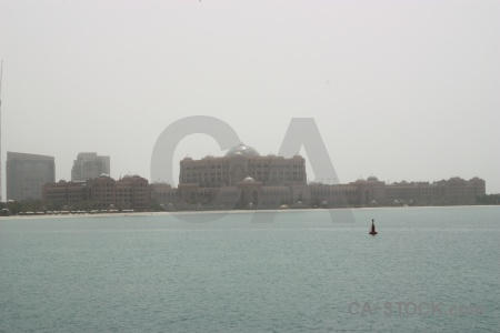 Palace western asia middle east emirates palace sea.