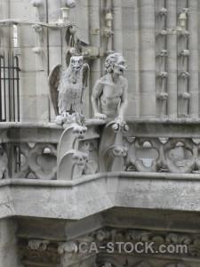 Paris france notre dame europe statue.