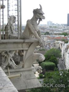 Paris notre dame gargoyle france statue.