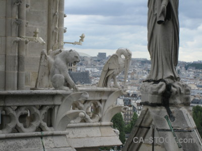 Paris statue europe notre dame gargoyle.
