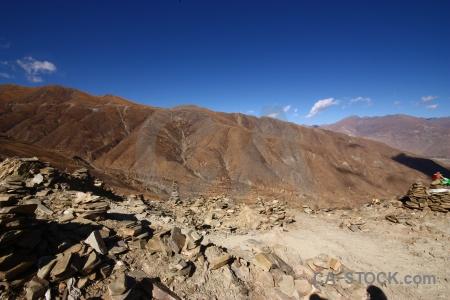 Pass plateau himalayan mountain kamba la.