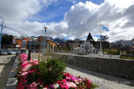 Patagonia building flag plant ushuaia.