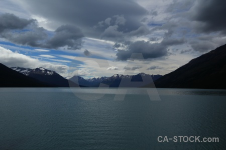 Patagonia cloud sky lake argentino water.