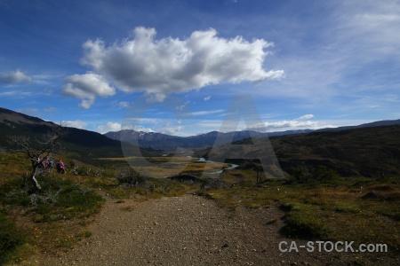 Patagonia landscape grass river chile.