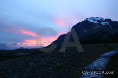 Patagonia sky mountain cloud sunrise.