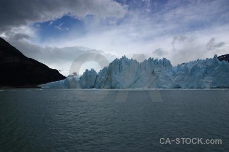Patagonia terminus ice cloud mountain.