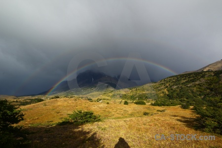 Patagonia torres del paine trek rainbow mountain.