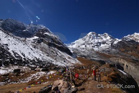 Path altitude trek snowcap himalayan.