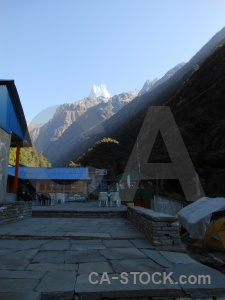 Path slab asia building machapuchre.