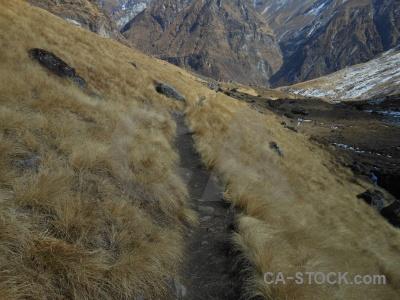 Path trek himalayan sky nepal.