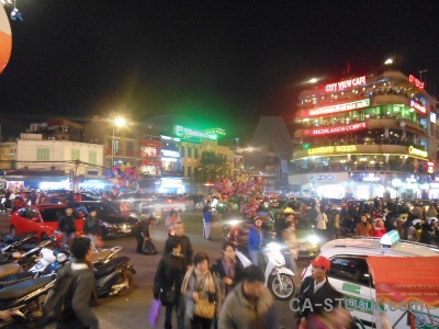 Person asia road neon square.