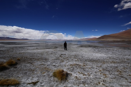 Person bolivia water andes landscape.