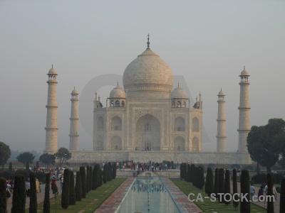 Person dome agra minaret india.