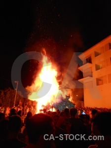 Person fiesta fire javea building.