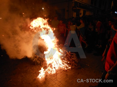 Person fiesta flame javea fire.