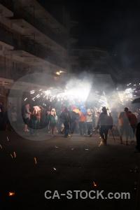 Person fiesta javea correfocs firework.