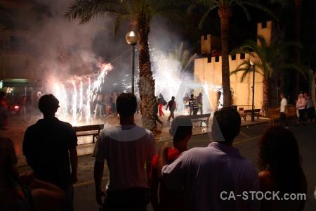 Person firework correfocs javea fiesta.