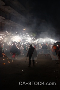Person firework fiesta javea correfocs.
