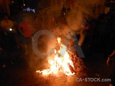Person flame fiesta building javea.