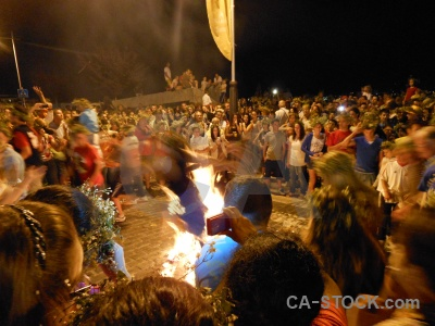 Person flame javea fiesta fire.