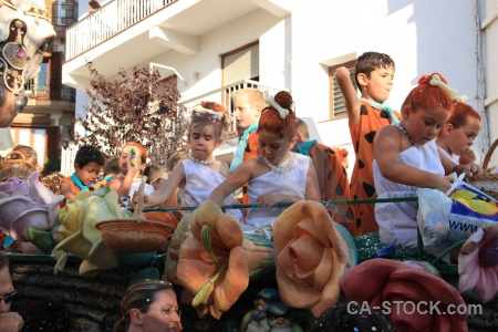 Person float building fiesta javea.