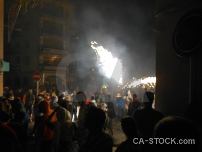 Person javea building fiesta firework.