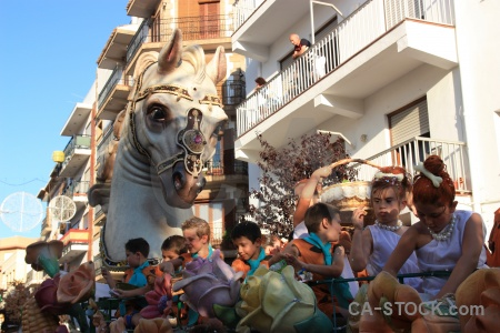 Person javea building float fiesta.