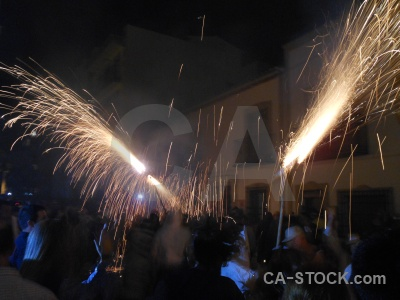 Person javea firework building correfocs.