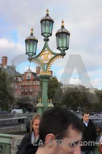 Person lamp post white.
