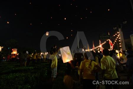Person lantern thailand bangkok festival.