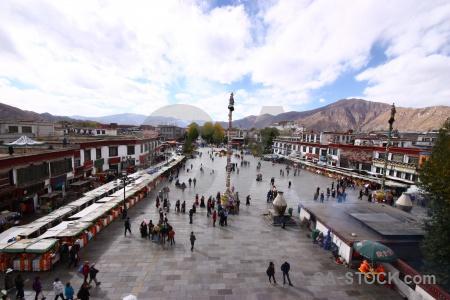 Person monastery tibet altitude temple.