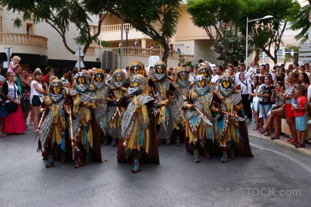 Person moors group javea fiesta.