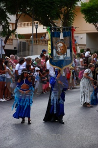 Person moors javea christian costume.